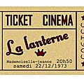 ticket de cinema