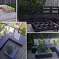 Transformation de palette en salon de jardin