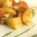Salade de pomme de terre, vinaigrette sauce soja