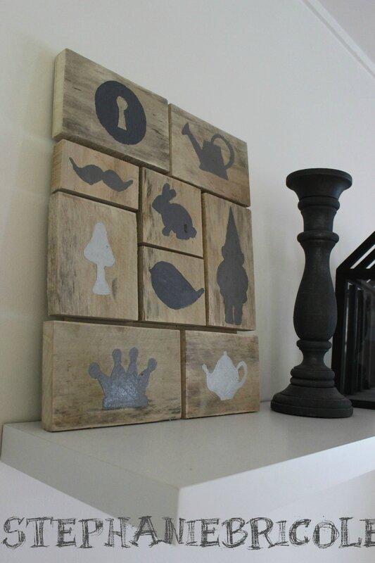 cadre mosaique de silhouettes