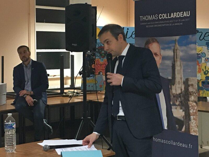 Thomas Collardeau candidat DVD élections législatives 1017 réunion Avranches 8_12_2016