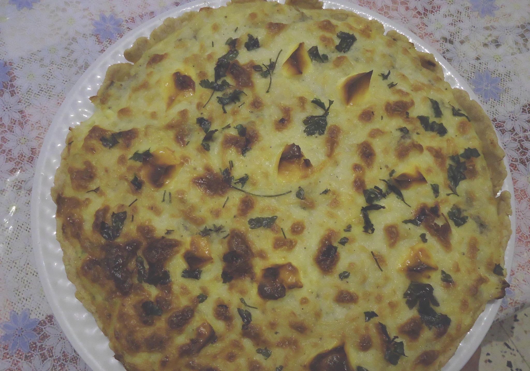 Recette d'entrée Tarte d'artichaut et oignon à la crème