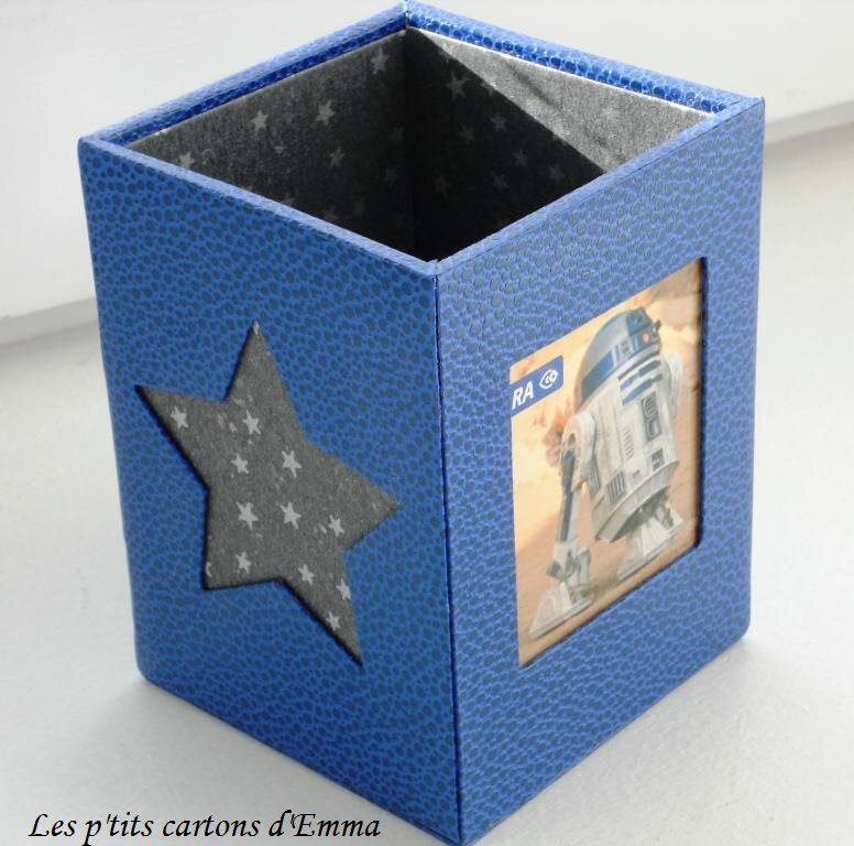 Pot à crayon bleu star wars 2b