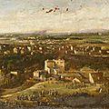Bertin, françois, vue panoramique de paris en 1871, prise d'Issy (1871)