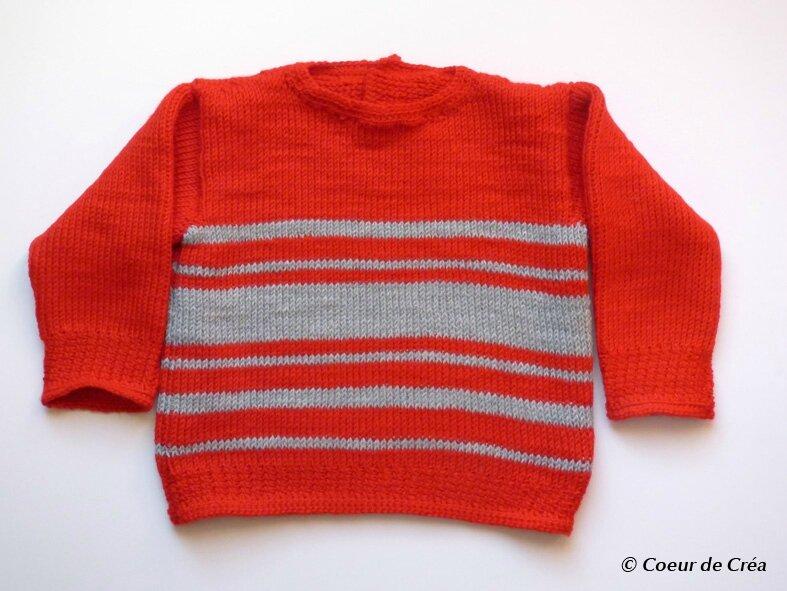 Un nouveau pull pour Petit Bonhomme au crochet tunisien