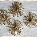 Fleurs en ficelle