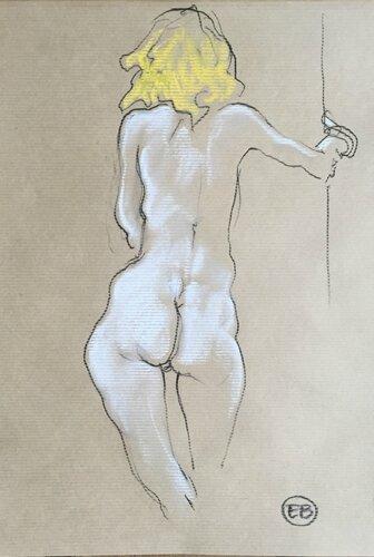#croquisdenu modele vivant living model Etienne Bonnet Croquis nu dessin peinture Golden Blog Awards nude drawing sketch B IMG_0928