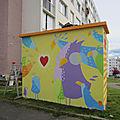 Fresque terminée - quartier soquence - le havre