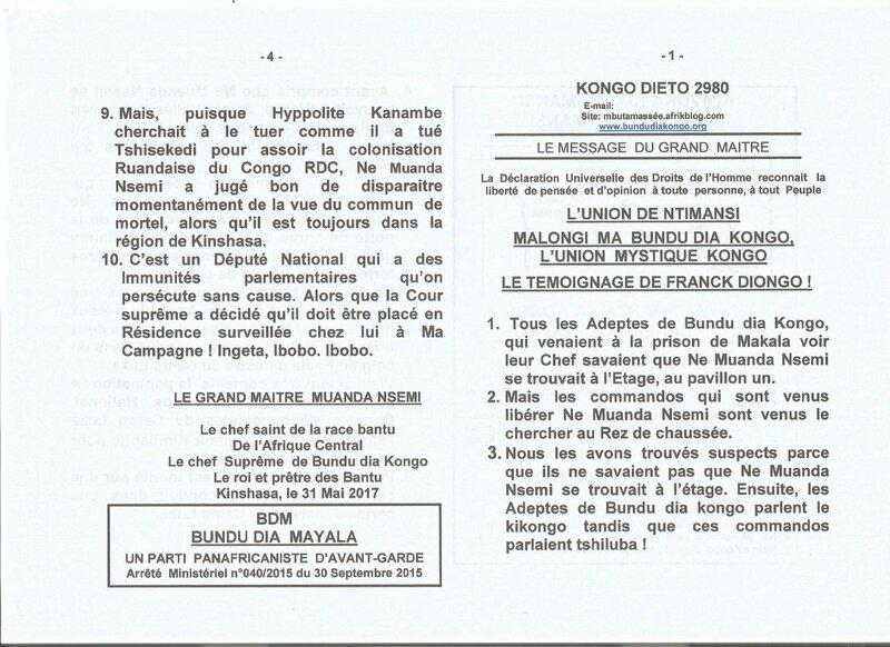 LE TEMOIGNAGE DE FRANCK DIONGO a