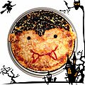 Food art: pizza halloween...