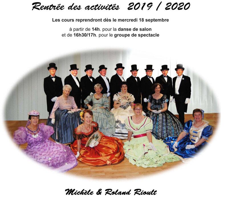 Rentrée des activités 2019-2020