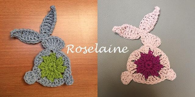 Roselaine lapin Pâques