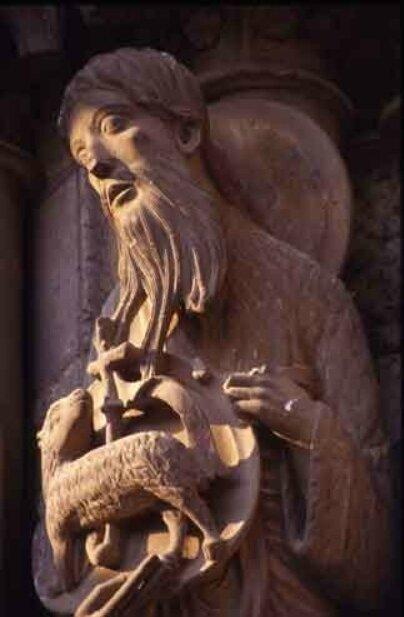 Jean-Baptiste et l'Agneau (portail nord de la cathédrale de Chartres)