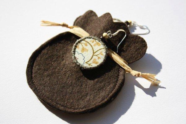 boucles d'oreilles beige écru tissu feutrine lalilalo creations et récréations (1)