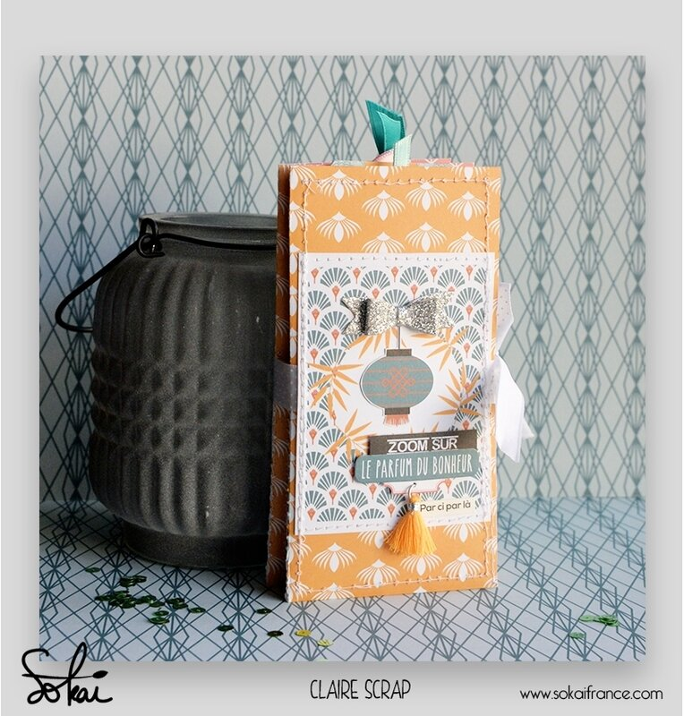 mini tag Maé - collection So'leil levant- devant de couverture - claire scrapathome - sokai