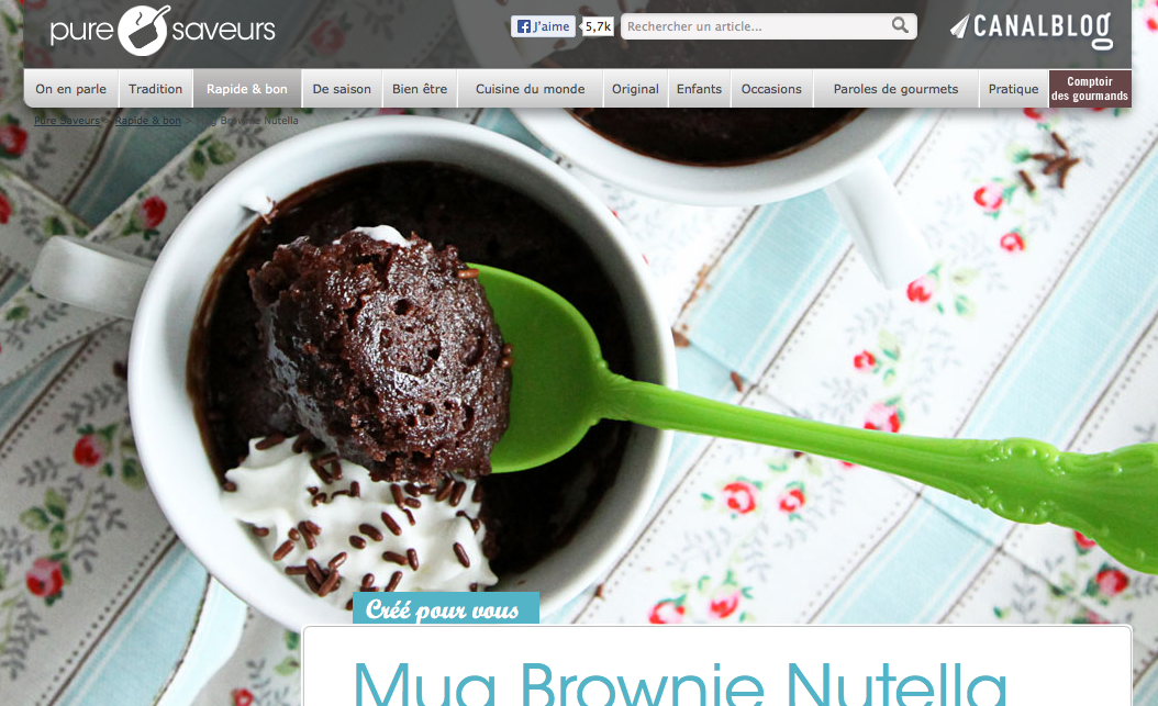 Mug Brownie Nutella