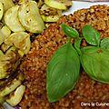 Quinoa et boulghour à la sauce tomate cajun