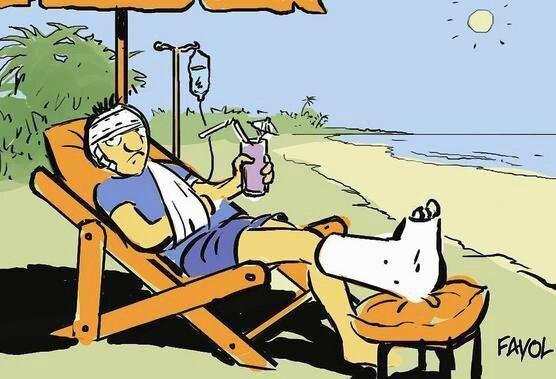 Malade vacances