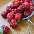 Confiture de fraises-rhubarbe