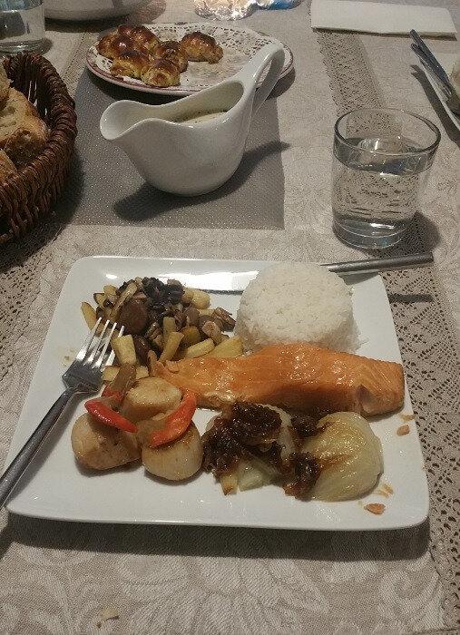 Déjeuner chez ma soeur fêtes de fin d'année 2