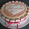 entremet biscuit rose framboises