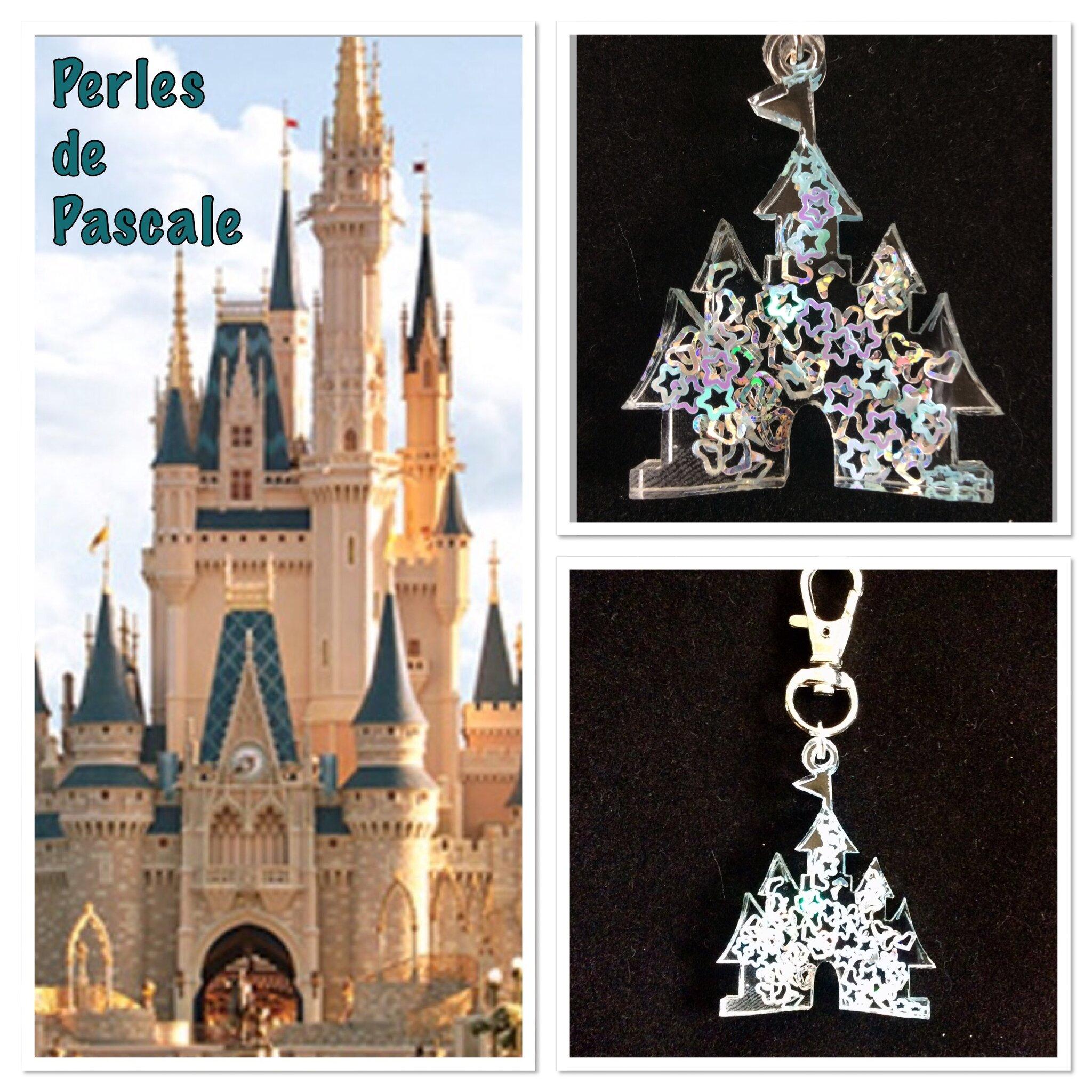 Porte Cle Chateau Disney Perles De Pascale