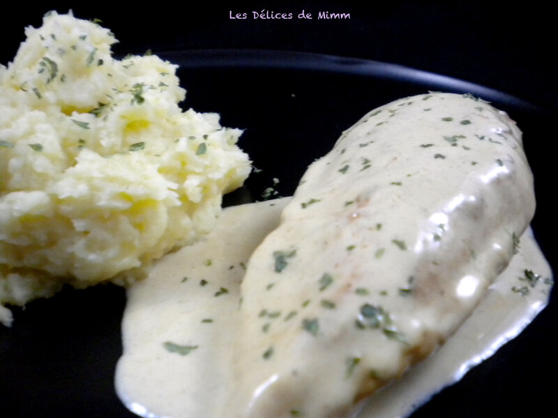 Filet de poulet à la moutarde et purée de panais 2