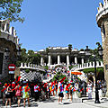 Main entrance of Parc Güell , Barcelona.