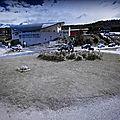 Rond-point à ushuaia (argentine)