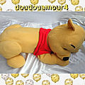 Peluche Doudou Grand Winnie L'Ourson Allongé Disney 62 cm