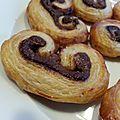 Petits palmiers à la pâte à tartiner chocolat/noisette