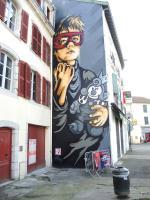 Bayonne, Festival Street Art Point de vue 2017, fresque, RNST (64)