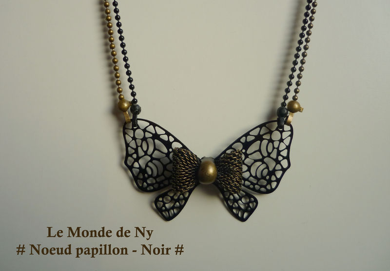 Collier Noeud Papillon - Noir