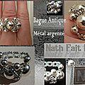 Bague Antique Métal argenté