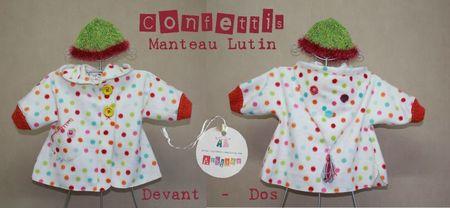 Manteau Confettis