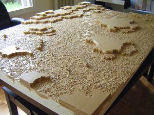 Etape Peinture de la table desert rocheux (2)