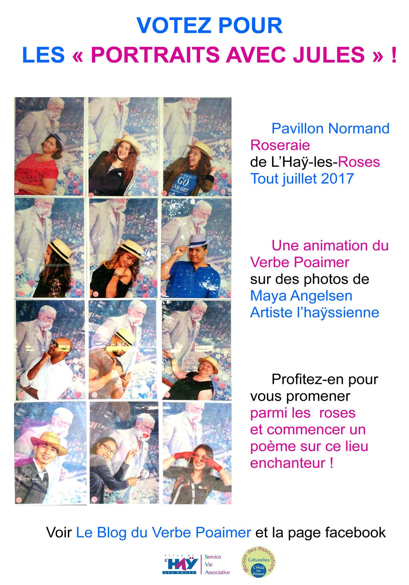 Les Portraits avec Jules Votez pour 1, 2 ou 3 photos d'Angelsen Pavillon Normand Roseraie de L'Haÿ avec Verbe Poaimer