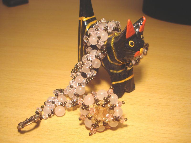 Samourai en quartz rose