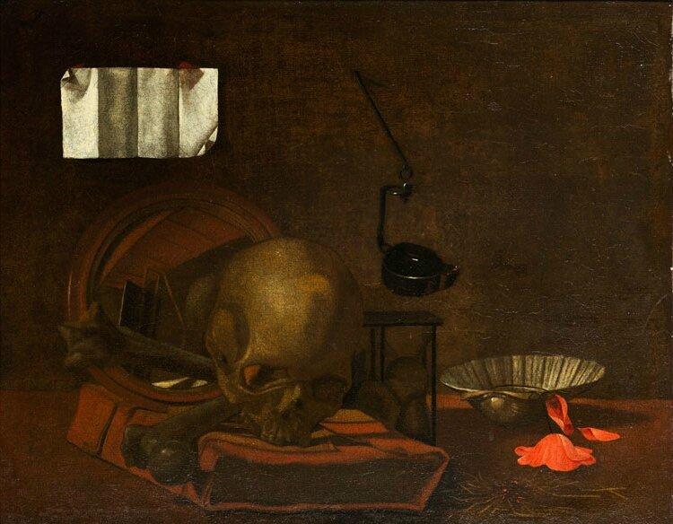 Napolitan master of the 17th century, Vanitas Still Life