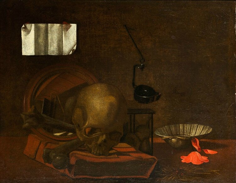 Napolitan master of the 17th century, Vanitas Still Life
