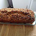 Cake à la banane et pépites de chocolat ( encore! ) [ sans oeufs, sans beurre ]