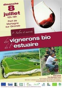 1er salon bio des vignerons de l'estuaire - affiche