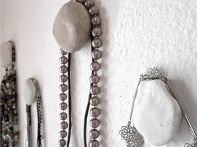 pebble hangers small collage S