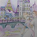Ballade romantique Paris de nuit