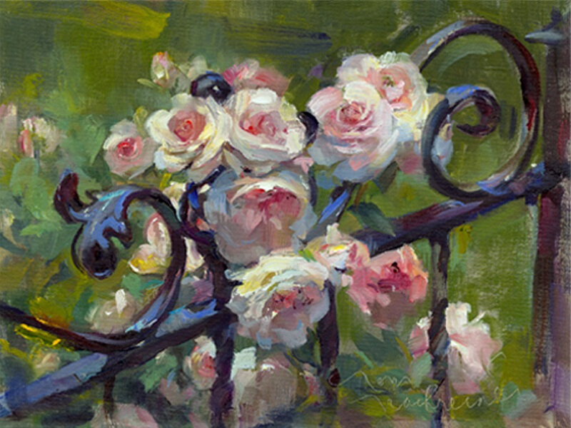 roses Tom Nachreiner - Pink_Roses_Wrought_Iron