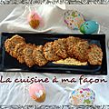 Biscuits aux flocons d'avoine