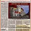 Arènes de béziers - une bonne nouvelle pour son histoire et l'édition...