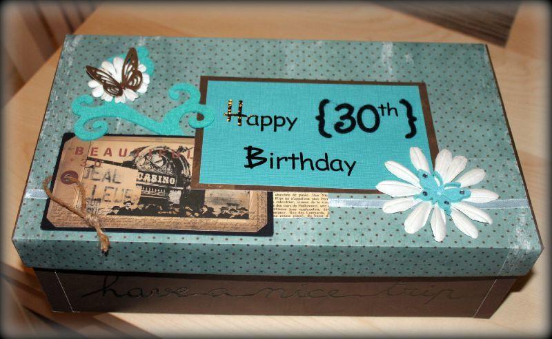 Bo te chaussures revisit e scrap cook - Decorer boite carton pour anniversaire ...