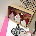 Matchbox boîte petites maisons d'argile étiquette gift tag washi tape carnet ikea papeterie