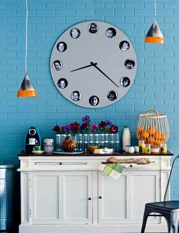 diy-wall-clock-decorated-with-pictures-of-your-family